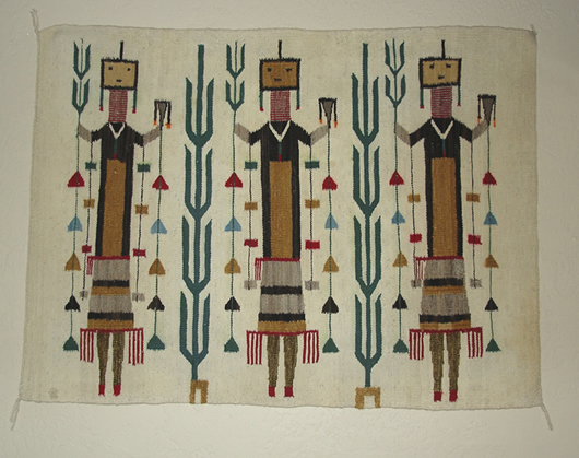 Yei Female Navajo Rug For Sale