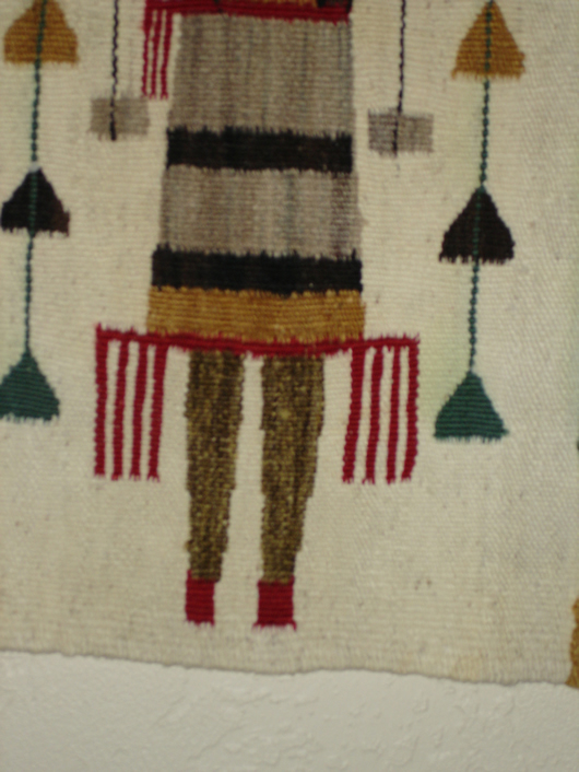 A mid Century Navajo Yei Rug For Sale | Antiques.com | Classifieds
