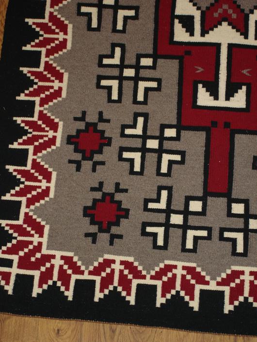 Klagetoh Navajo Rug With Snowflake Border