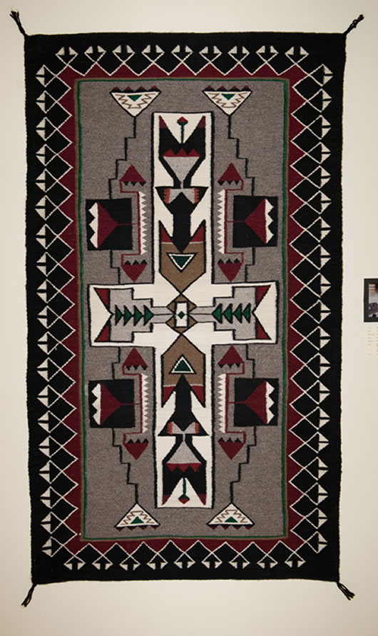 Teec Nos Pos Storm Pattern Navajo Rug For Sale Photo 1