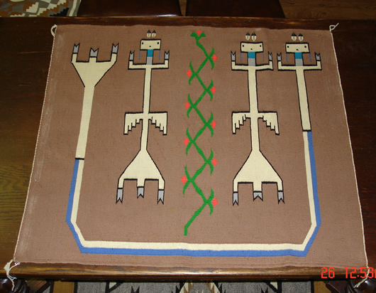 Sandpainting Pictorial Navajo Rug  For Sale