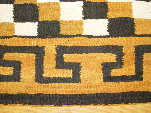 1950 Diagonal Checkered Navajo Rug For Sale