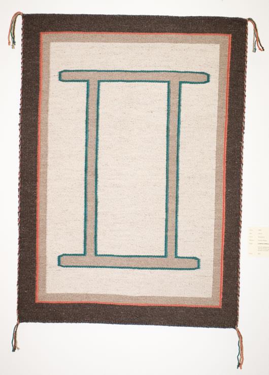 Gemini Symbol Modern Navajo Rug