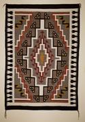 Two Grey Hills Navajo Rug Weaving