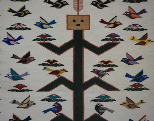 Corn Yei Tree of Life Navajo Weaving 1092