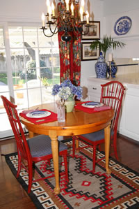 Dining Room With Bisti Navajo Rug