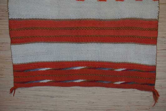 Diagonal Banded Twill Navajo Double Saddle Blanket 991