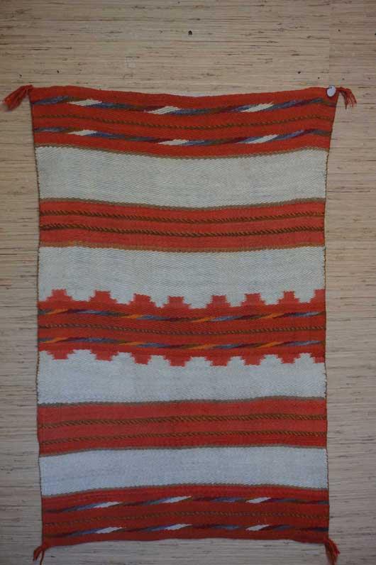 Diagonal Banded Twill Navajo Double Saddle Blanket 991