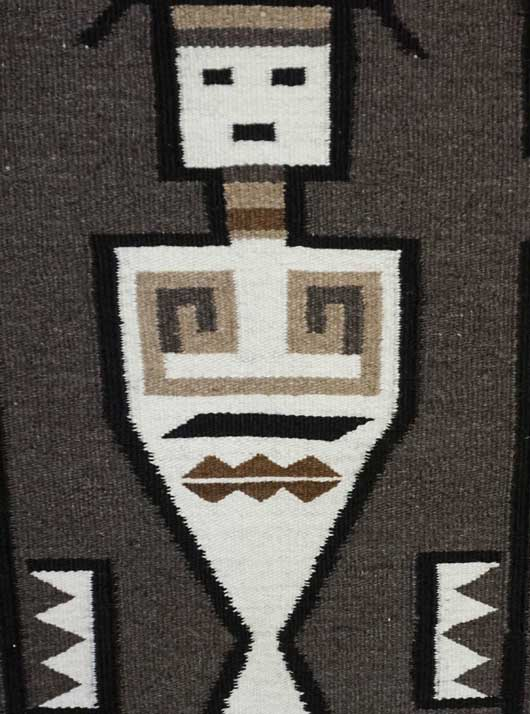 Double Yei Navajo Rug Weaving 386