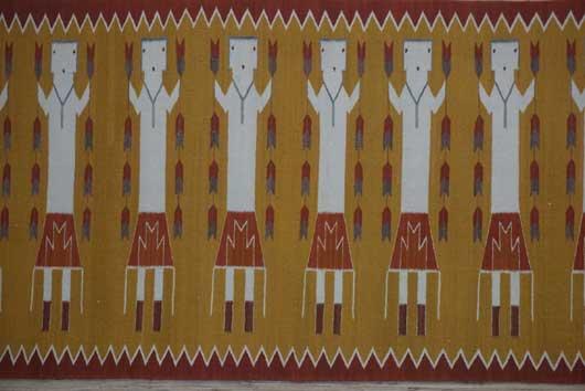 Eight Female Yei Navajo Weaving 969