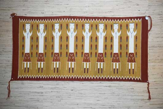 Eight Female Yei Navajo Weaving 969