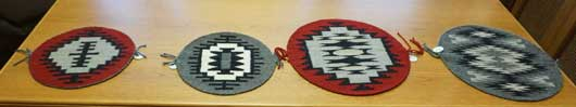 Four Round Navajo Weavings by Barbara Begay