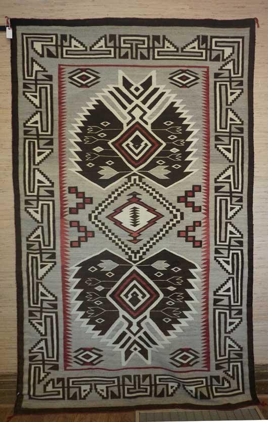 Ganado Bisti Two Grey HiIls Navajo Rug for Sale 294
