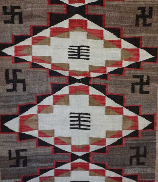Ganado Navajo Rug with Whirling Logs 639