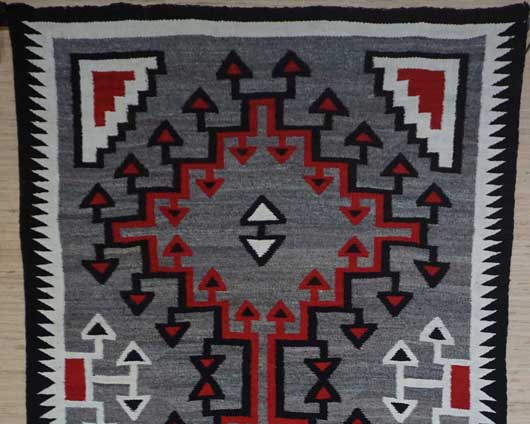 Ganado Storm Pattern Variant Navajo Rug 1112 Photo 002