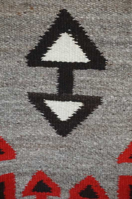 Ganado Storm Pattern Variant Navajo Rug 1112 Photo 003