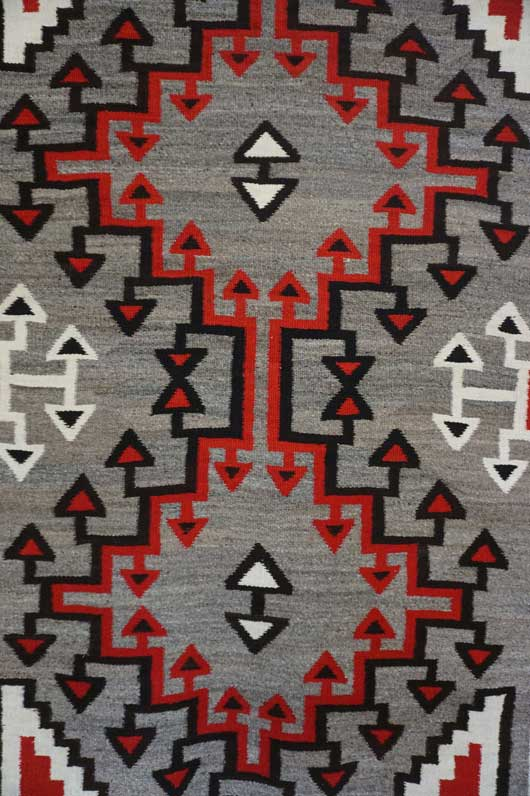 Ganado Storm Pattern Variant Navajo Rug 1112 Photo 004