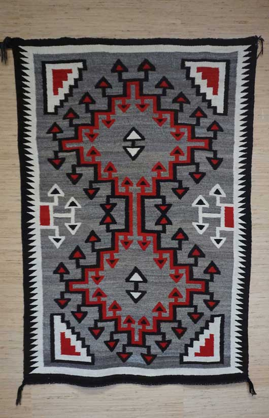 Ganado Storm Pattern Variant Navajo Rug 1112 Photo 005