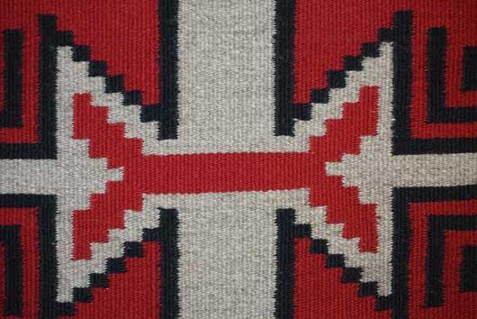 Ganado Storm Pattern Variant Navajo Rug by Sadie Curtis 981