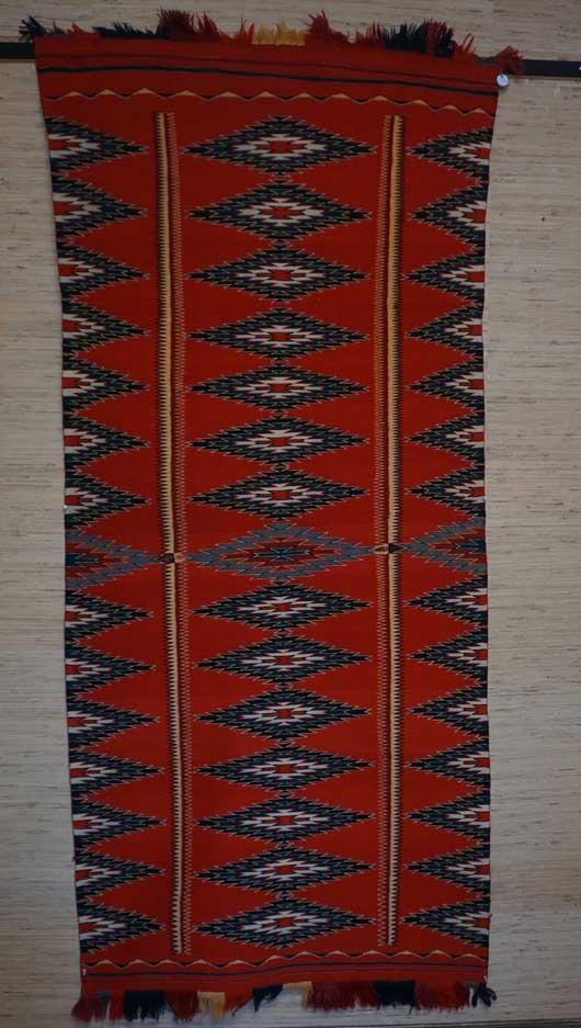 Navajo Germantown blanket circa 18880-1890