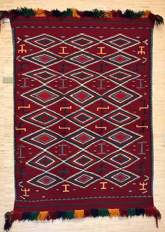 Germantown Navajo Pictorial Blanket 1151 Photo 001