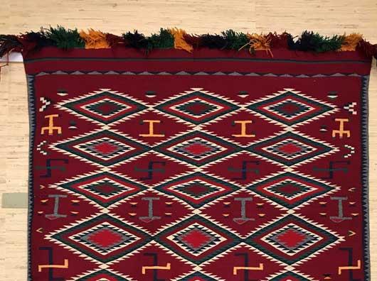 Germantown Navajo Pictorial Blanket 1151 Photo 002
