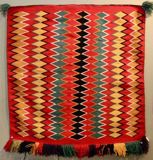 Germantown Navajo Single Saddle Blanket Sunday Saddle 1150 Photo 001