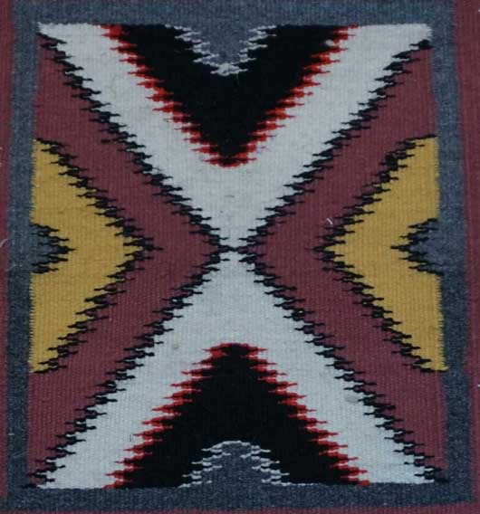 Germantown Sampler Red Mesa Navajo Rug for Sale 975 for Sale