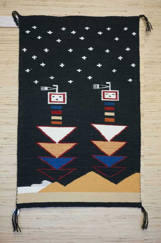 Guardian Yei Navajo Rug Weaving