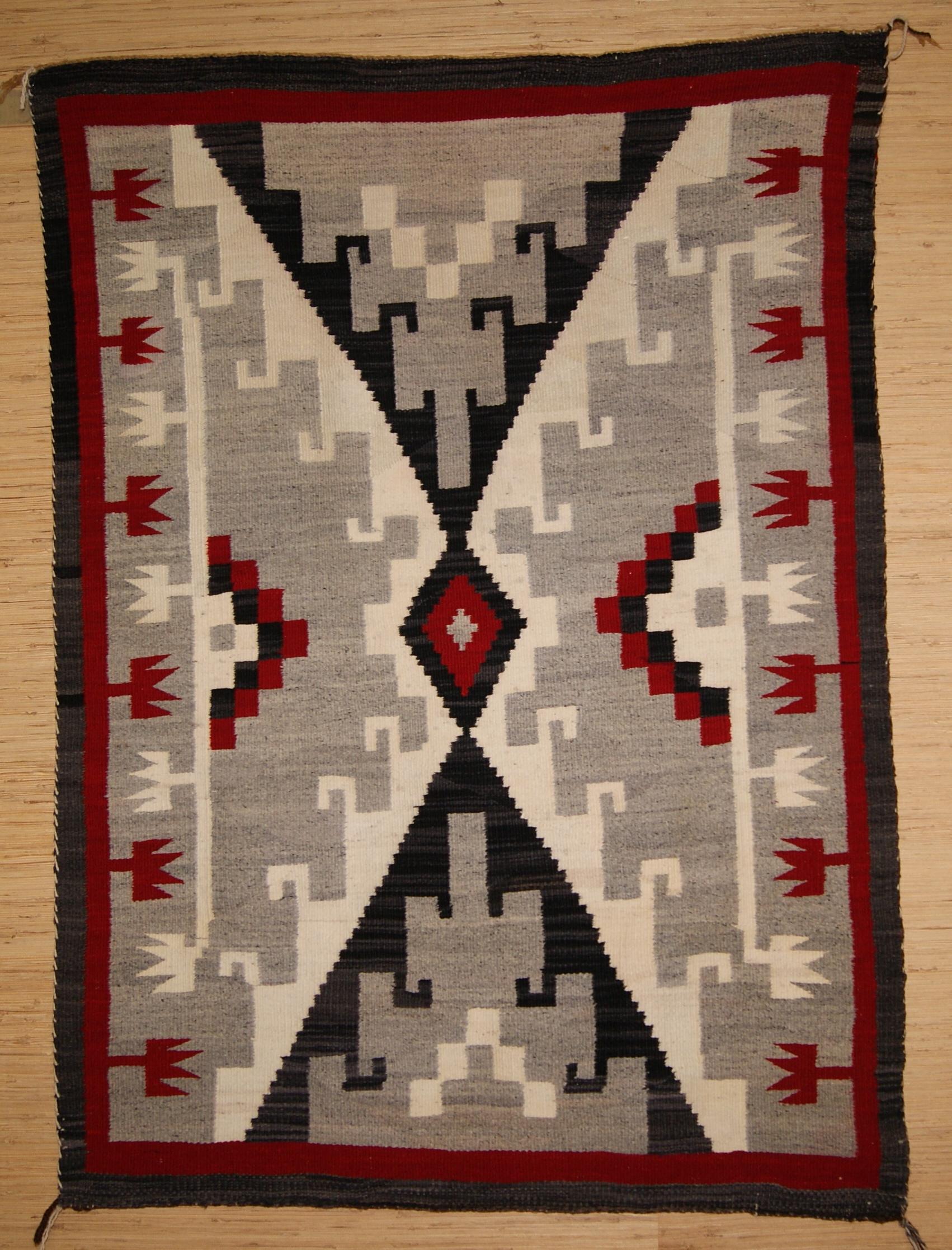 Circa 2000; Ganado Navajo Rug