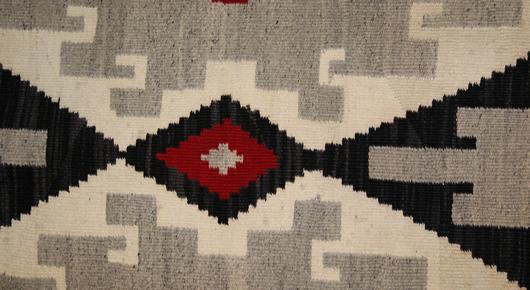 Historic Ganado Navajo Rug Weaving For Sale Circa 1930