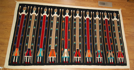 Historic Yei Navajo Rug Weaving For Sale