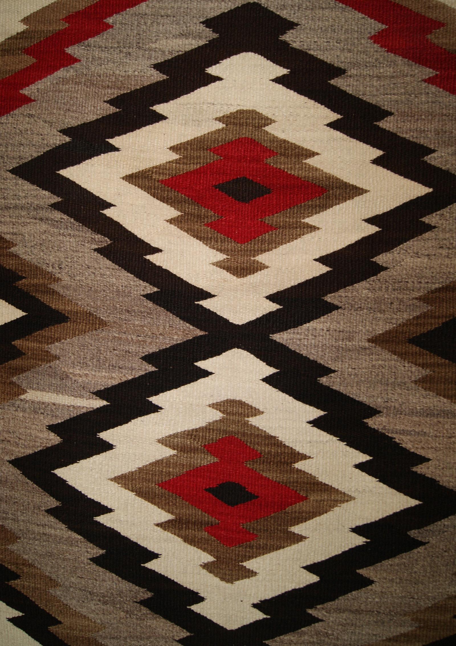 Historic Old Crystal Navajo Rug Weaving Circa 1930
