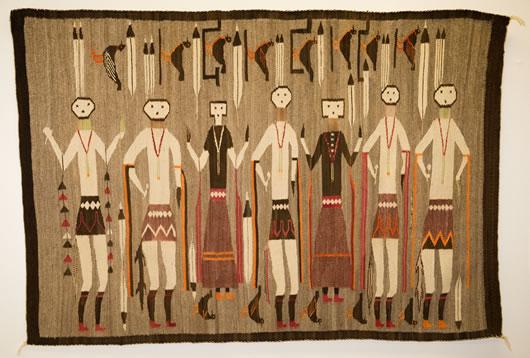 Yeibichai Lukachukai Navajo Rug