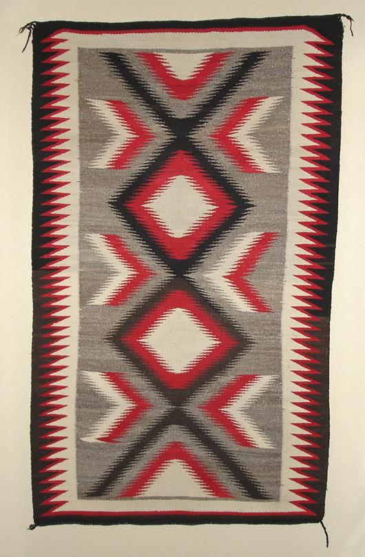 Ganado Navajo Saddle Blanket For Sale