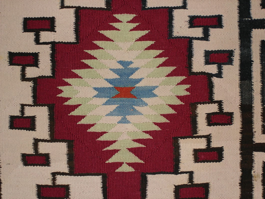 Old Crystal Double Navajo Saddle Blanket For Sale Photo 2