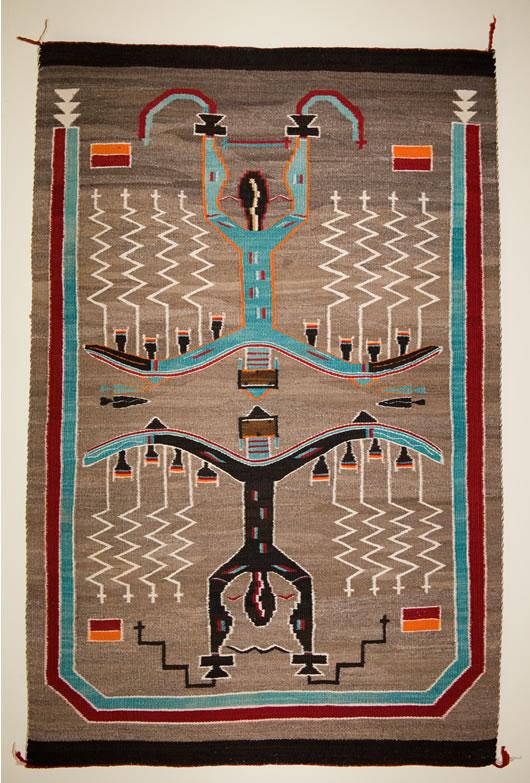 Sand Painting Pictorial Navajo Rug
