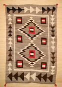 Historic J. B. Moore Crystal Trading Post Navajo Rug Weaving For Sale