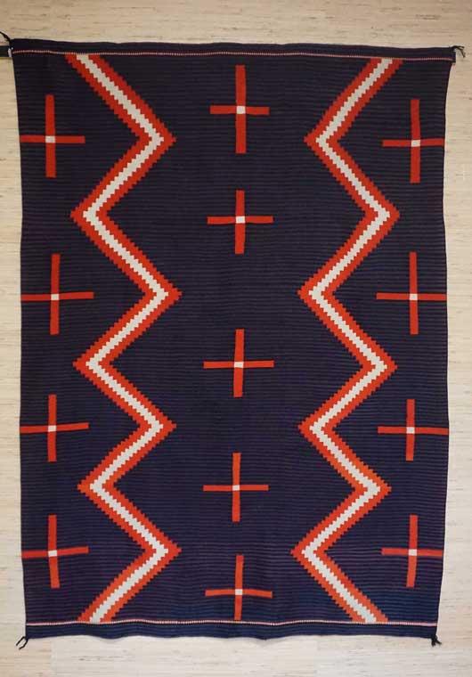 Hubble Germantown Moki Navajo Blanket 1117 Photo 002