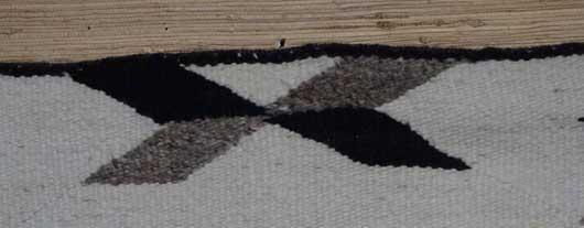 J B Moore Crystal Trading Post Double Saddle Blanket Navajo Rug Weaving for Sale 989