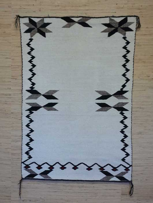 J B Moore Crystal Trading Post Double Saddle Blanket Navajo Rug Weaving for Sale 989