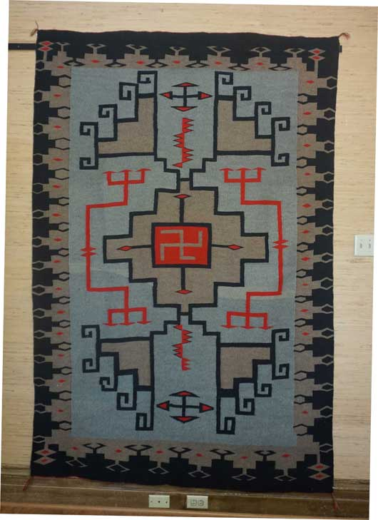 JB Moore Crystal Trading Post Catalog Rug a Variant of Plate XXVII Navajo Rug for Sale 992 for Sale