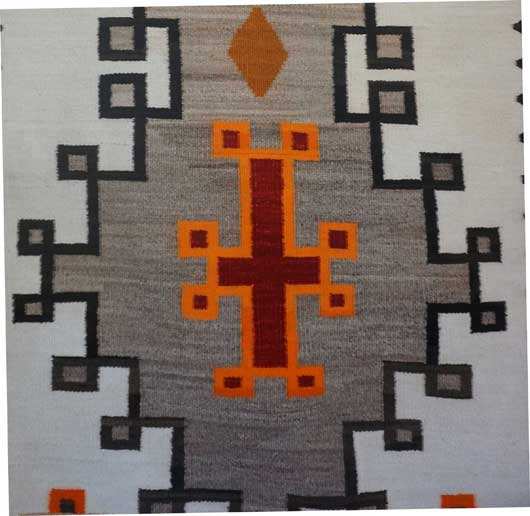 JB Moore Crystal Trading Post Double Diamond Navajo Rug for Sale 993 for Sale