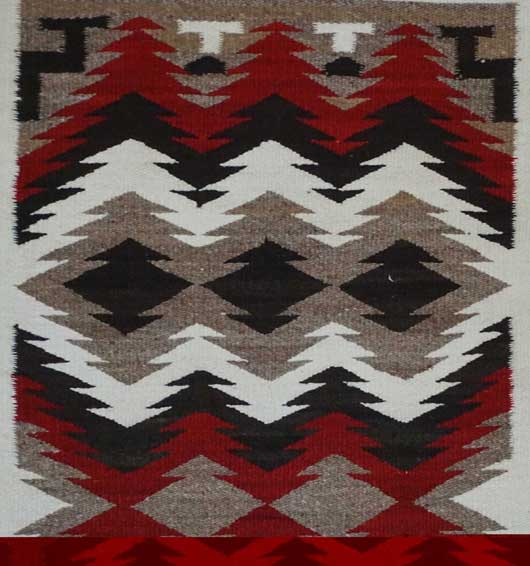 JB Moore Crystal Trading Post Navajo Double Saddle Blanket 914 for Sale