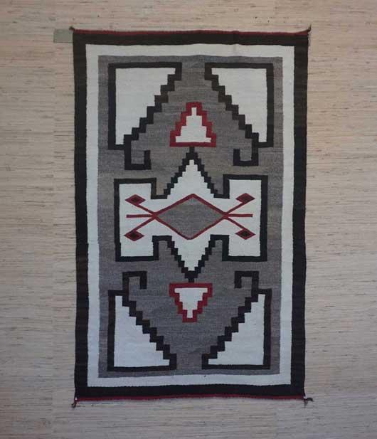 JB Moore Crystal Trading Post Navajo Rug 1006