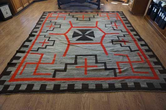 JB Moore Crystal Trading Post Navajo rug. Circa 1900