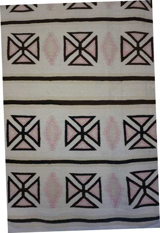 JB Moore Crystal Trading Post Navajo Rug 12 Maltese Crosses