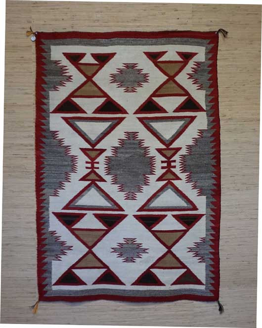 JB Moore Crystal Trading Post Navajo Rug 862 for Sale