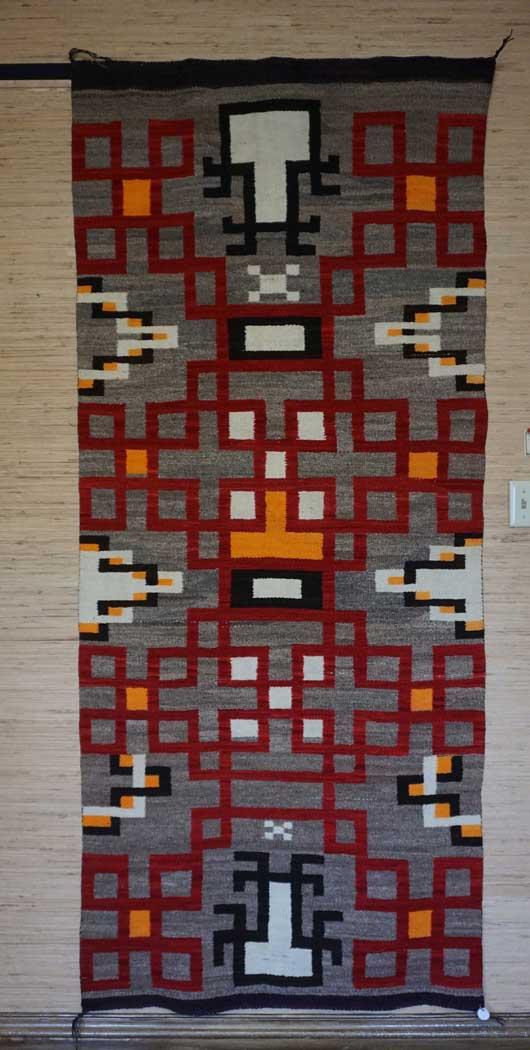 JB Moore Crystal Trading Post Navajo Rug 927
