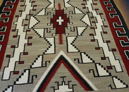 JB Moore Crystal Trading Post Navajo Rug for Sale 1066